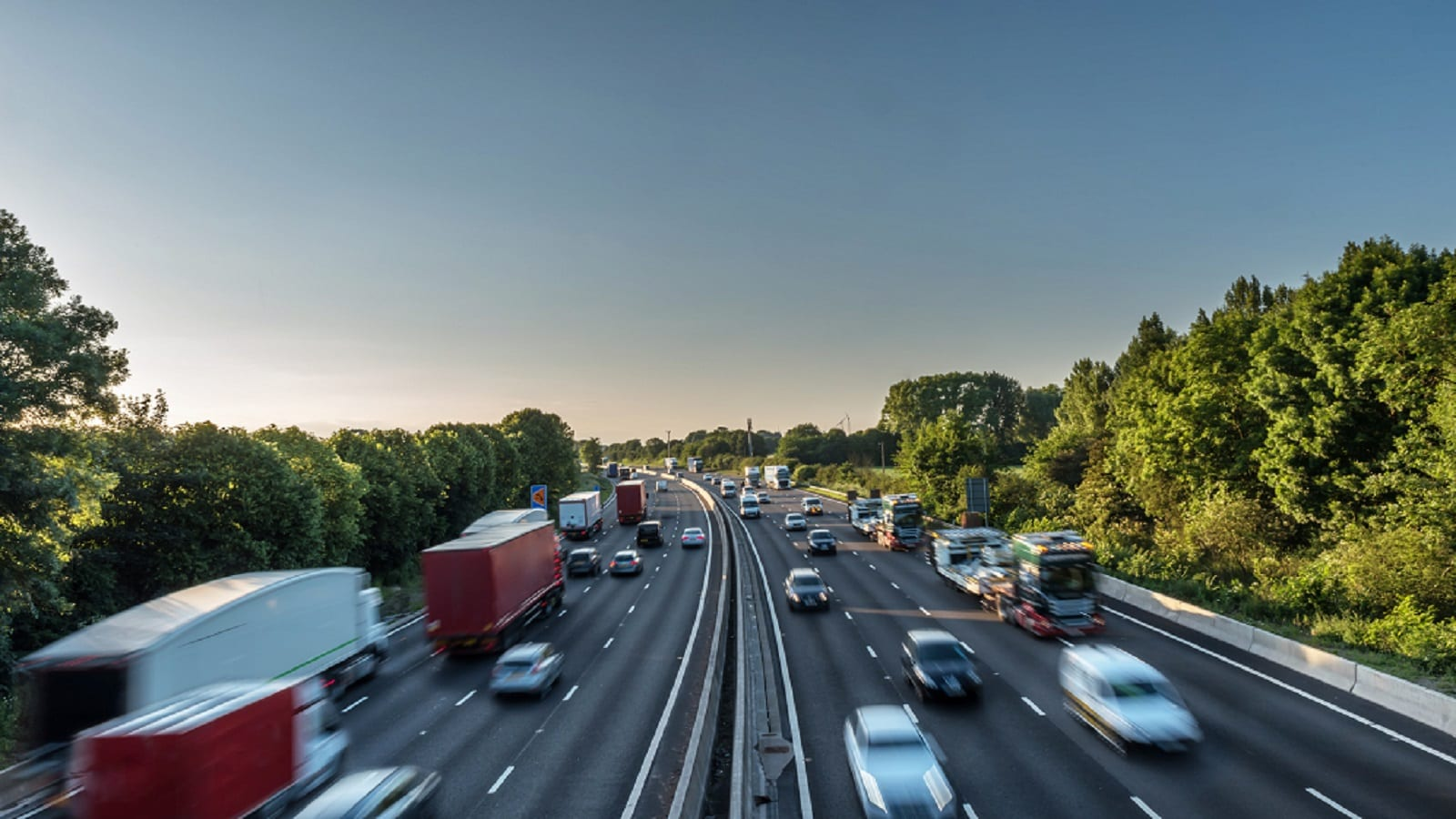 Busy Interstate Stock Photo